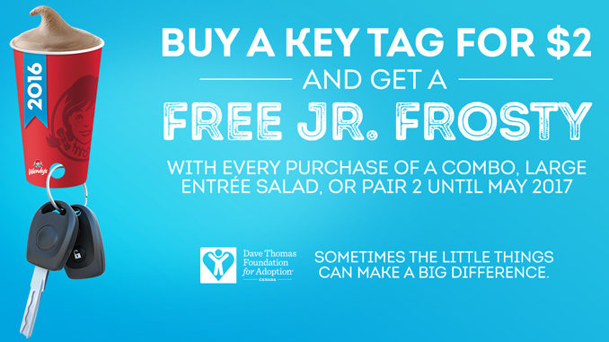 Buy A Wendy's Canada Key Tag For $2 And Get Free Frosties Until May 2017