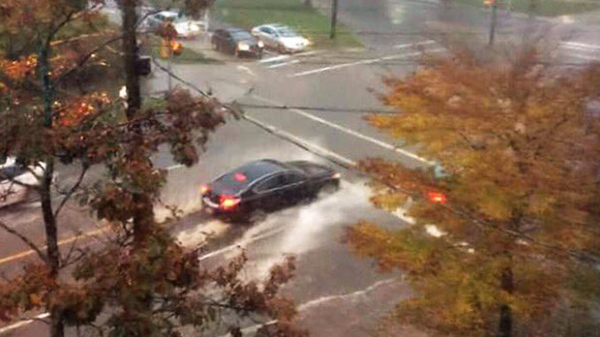 Halifax Downpour Causes Flash Flooding On October 22, 2016
