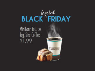 Minibon Roll And Coffee For $1.99 At Cinnabon Canada On November 25, 2016