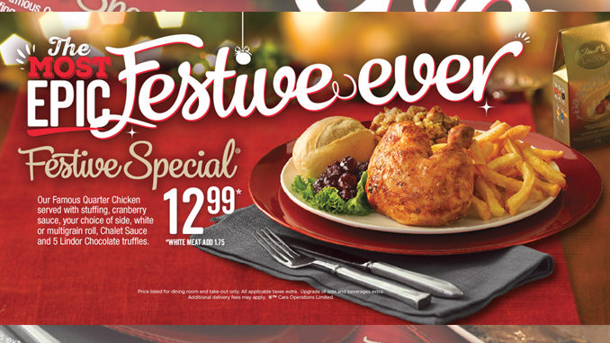 Swiss Chalet Festive Special Is Back For 2016 Holiday Season