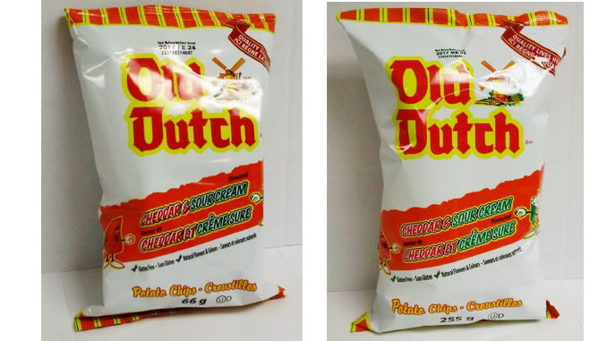Old Dutch Recalls Cheddar And Sour Cream Potato Chips Over Salmonella Concern