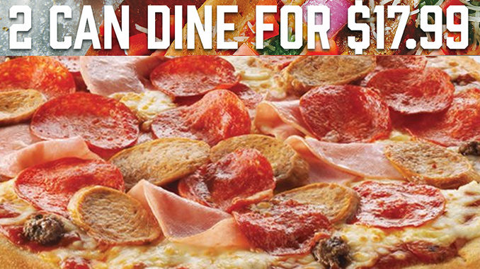 Boston Pizza Offers 2 Can Dine For $17.99 Individual Pizzas Deal