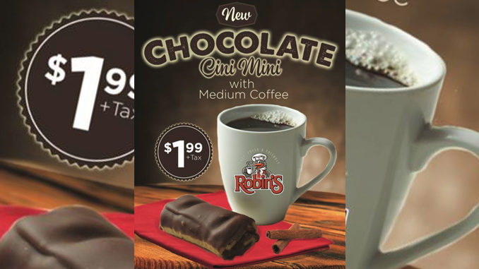 Get A New Chocolate Cini Mini And Coffee For $1.99 At Robin's Donuts