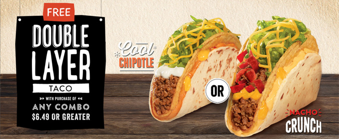 Taco Bell Canada Double Layer Tacos