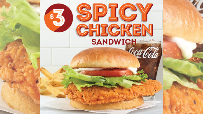 Get A Spicy Chicken Sandwich For $3 At Wendy's Canada Through February 26, 2017