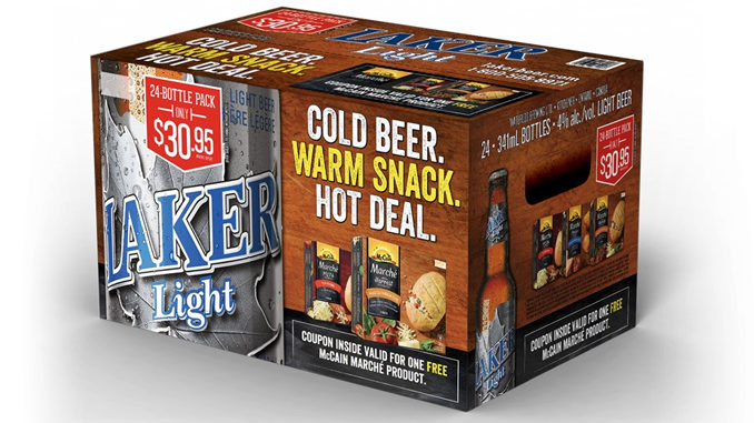 Get Free McCain Marche Snacks With Purchase Of Laker Light Beer