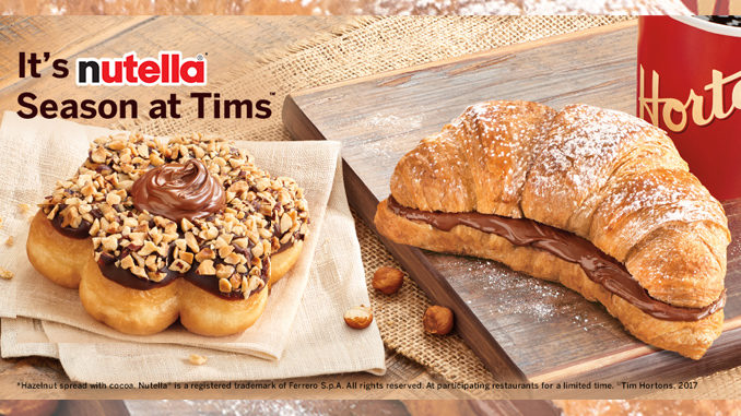 Nutella Treats Return Tim Hortons For Spring 2017