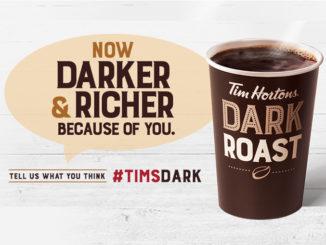 Tim Hortons Introduces Darker, Richer Dark Roast Coffee
