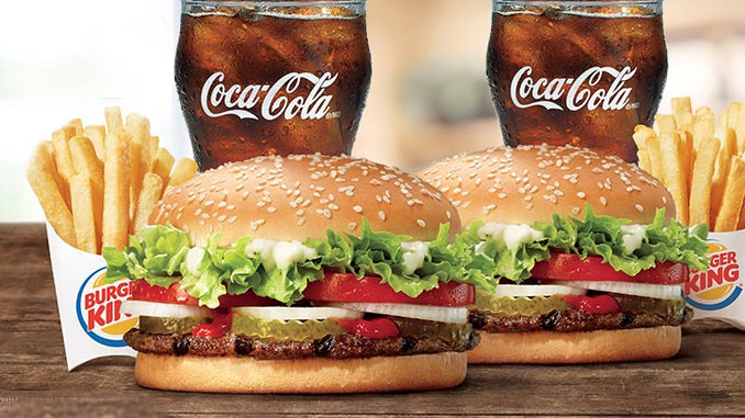 Burger King Canada Offers New 2 For $10 Whopper Meal Deal