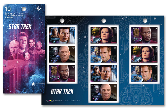 Canada Post Unveils Starfleet's Finest Captains Stamps
