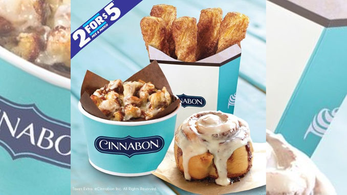 Cinnabon Canada Offers 2 For $5 Mix Or Match Deal Through April 30, 2017