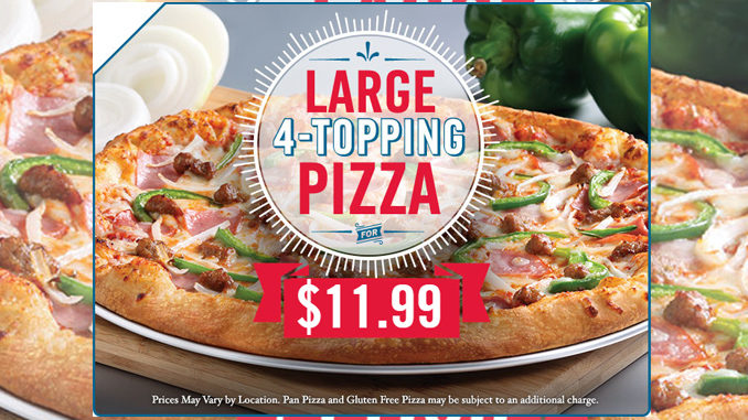 Domino's Canada Offers Large 4-Topping Pizzas For $11.99