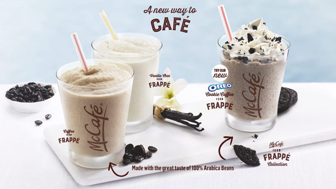 McDonald's Canada Serves Up New Oreo Cookie Iced Frappé