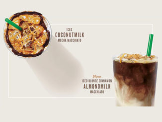 Starbucks Canada Offers New Iced Coconutmilk Mocha Macchiato And Iced Blonde Cinnamon Almondmilk Macchiato