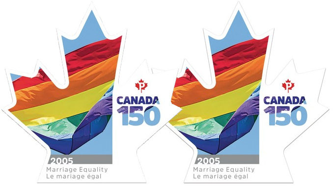 Canada Post Unveils New Stamp Celebrating Marriage Equality Across Canada