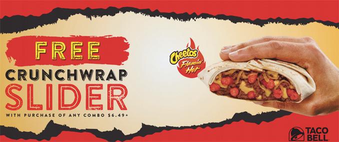 Free Cheetos Crunchwrap Slider Coupon