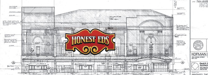 Plans for Honest Ed's Sign at Mirvish Theatre
