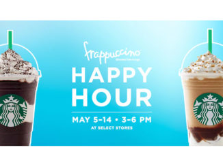 Starbucks Canada Celebrates Frappuccino Happy Hour From May 5 to May 14, 2017