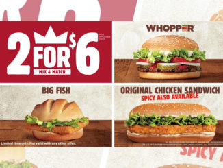 Burger King Canada Discontinues 2 For $5 Mix And Match Deal