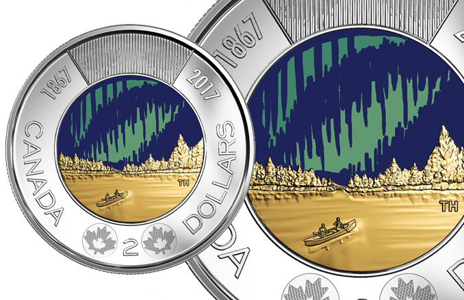 Mint Unveils New Glow-In-The-Dark Toonie For Canada 150