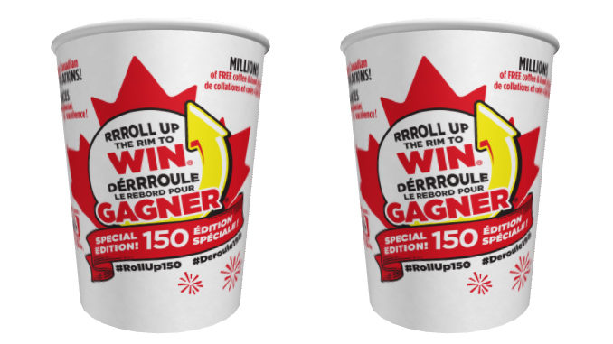 Tim Hortons Launches Roll Up The Rim Special Canada 150 Edition