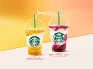 Starbucks Canada Launches New Mango Pineapple And Berry Prickly Pear Frappuccinos