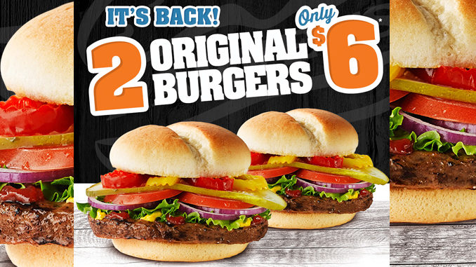 Get Two Original Burgers At Harvey's For $6 Through September 10, 2017
