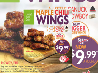 Mary Brown's Introduces New Maple Chili Wings