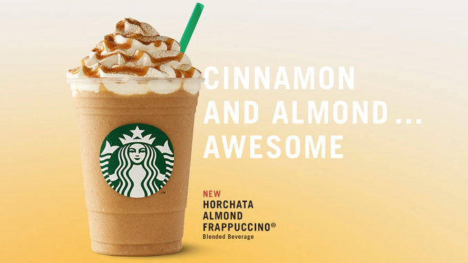 Starbucks Canada Adds New Horchata Almond Frappuccino