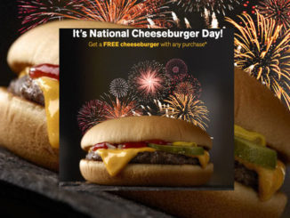 Free Cheeseburger At McDonald's Canada With Any App Purchase On September 18, 2017