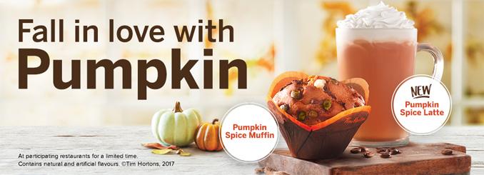 Pumpkin Spice Latte and Pumpkin Spice Muffin