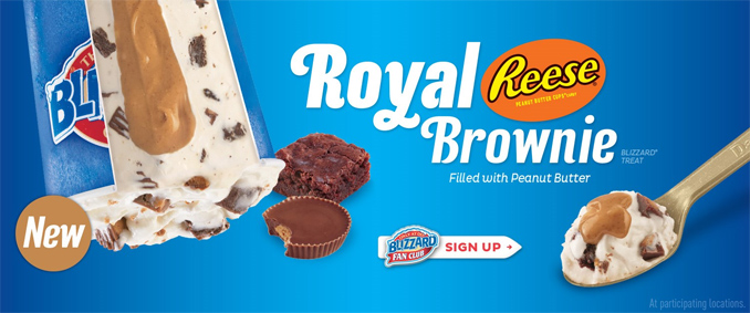 Royal Reese Brownie Blizzard