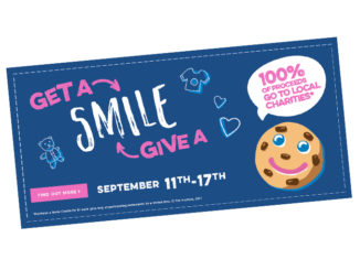 The Annual Smile Cookie Fundraiser Returns To Tim Hortons Through September 17, 2017
