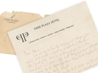 Bob Dylan handwritten 1980 Toronto letter on the auction block