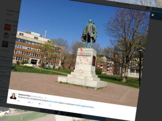 Edward Cornwallis statue defaced in Halifax