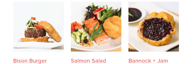 Songhees Seafood and Steam menu items