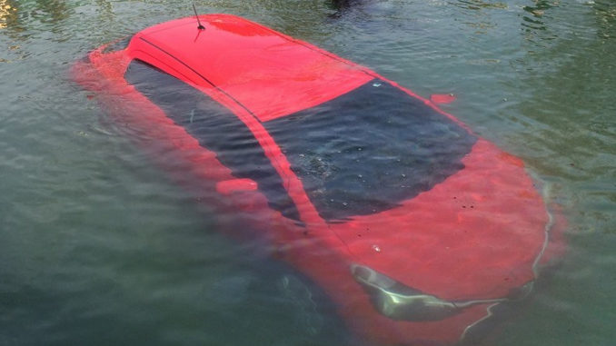 Woman follows car's GPS directions straight into Lake Huron