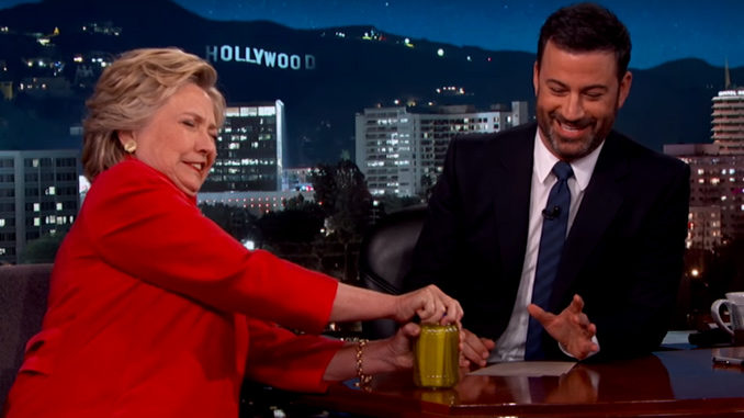 Hillary Clinton Shows Off Her Kitchen Skills During Jimmy Kimmel Appearance