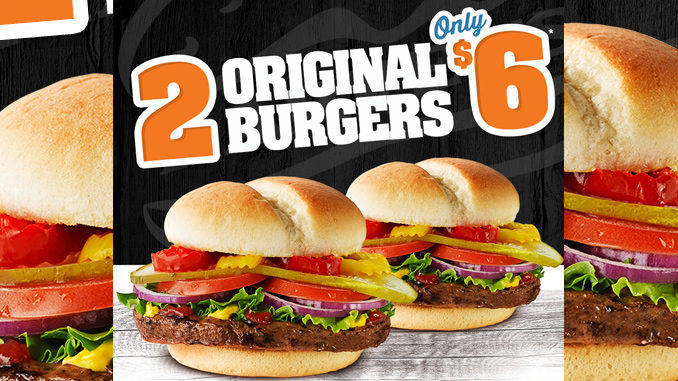 Harvey's Offers 2 Original Burgers For $6 For A Limited Time