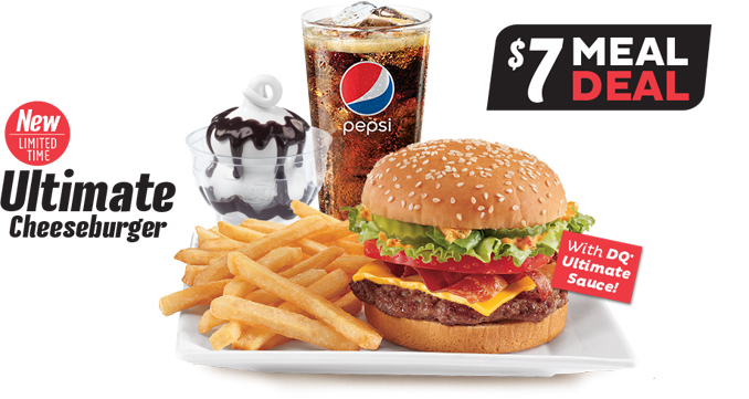 Dairy Queen Canada Ultimate Cheeseburger Meal