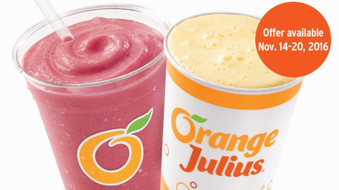Buy One, Get One Premium Fruit Smoothie Or Julius Original For 90-Cents At Dairy Queen Canada