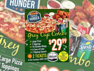 Free Grey Cup Tickets At Pizza Pizza With $30 Combo Meal