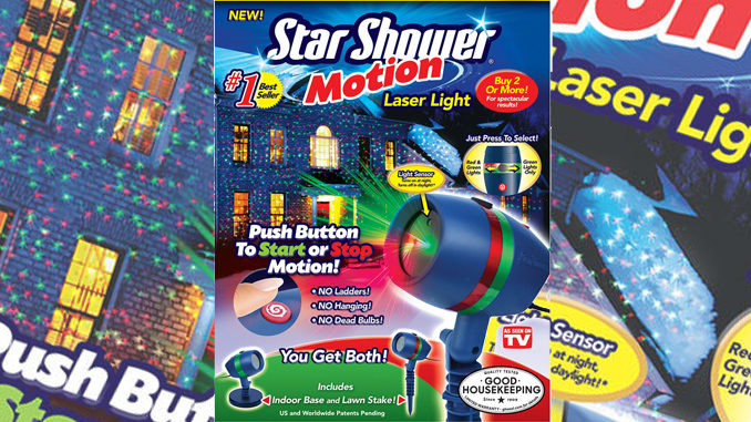 Review: Star Shower Motion Laser Light As Seen On TV In Canada