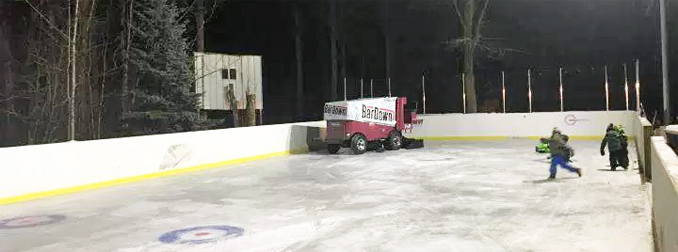 Jesse Myshak on his Zamboni