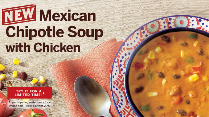 Review: Tim Hortons Mexican Chipotle Soup With Chicken