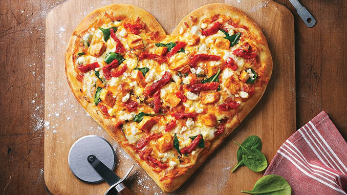 Boston Pizza Serves Up Heart-Shaped Pizza To Celebrate Valentine's Day 2017