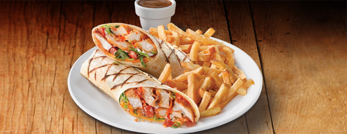 Crispy Buffalo Chicken Wrap