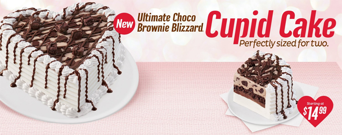 Dairy Queen Chocolate Brownie Cupid Cake