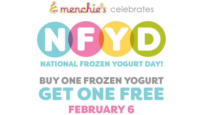 Buy One, Get One Free Frozen Yogurt At Menchie's On February 6, 2017