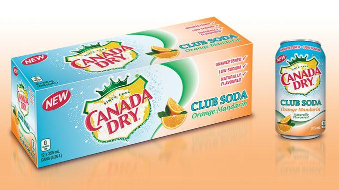 Canada Dry Introduces New Club Soda Orange-Mandarin Flavour